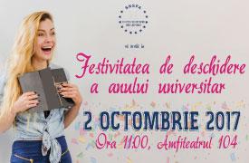 Deschiderea anului universitar 2017-2018 la FCRP | 2 octombrie