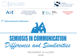 Conferința internațională Semiosis in Communication: Differences and Similarities 2018