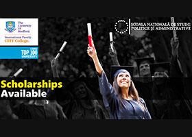 Bursă parțială Sheffield pentru absolvenții SNSPA