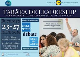 Tabăra de leadership pentru instructori şi profesori de dezbateri la FCRP în 25 iulie