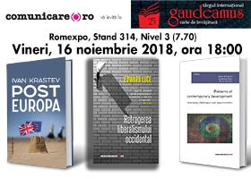 Editura Comunicare.ro la GAUDEAMUS. Lansări: 16.112018, ora 18.00, la standul editurii