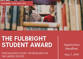 Burse Fulbright Student 2020-2021
