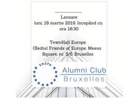 """Lansarea """"Clubului SNSPA Alumni Bruxelles"""" - pentru absolvenții FCRP activi la Bruxelles"""