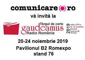 Editura Comunicare.ro la Târgul GAUDEAMUS Radio România - 20 - 24 noiembrie a.c.