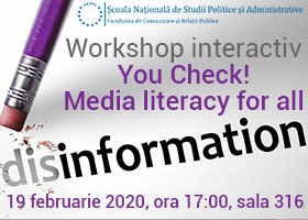 "Workshop interactiv ""You Check! Media literacy for all"" 